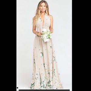 Show Me Your Mumu halter dress Bouquet Toss Print